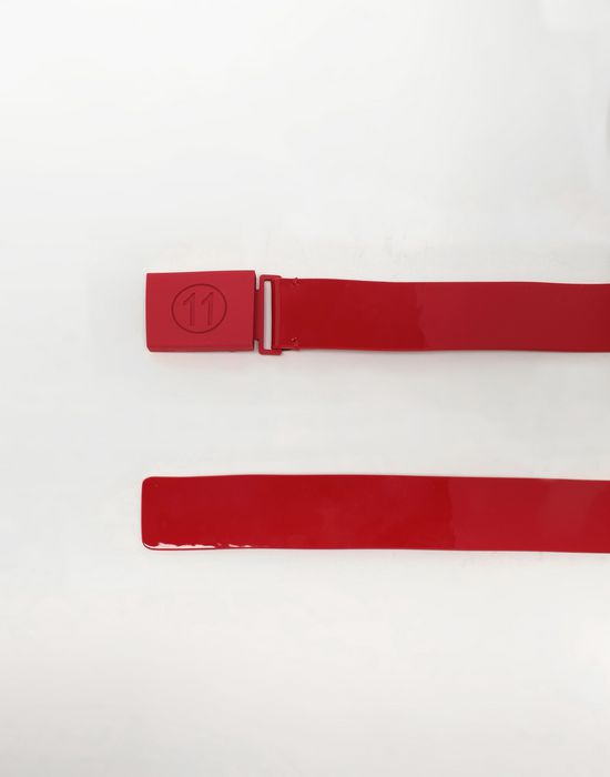 MAISON MARGIELA Buckled patent leather belt Belt [*** pickupInStoreShippingNotGuaranteed_info ***] r