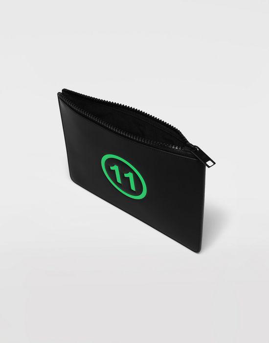 MAISON MARGIELA Logo-embossed leather clutch Wallets [*** pickupInStoreShippingNotGuaranteed_info ***] d