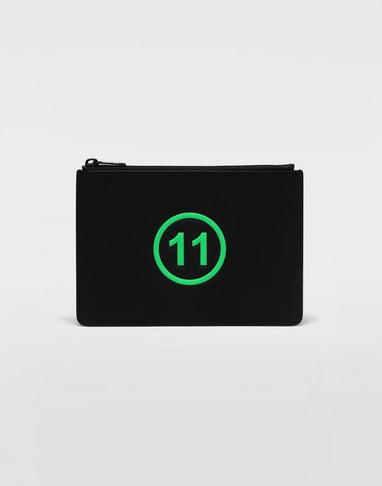 MAISON MARGIELA Logo-embossed leather clutch Wallets [*** pickupInStoreShippingNotGuaranteed_info ***] f