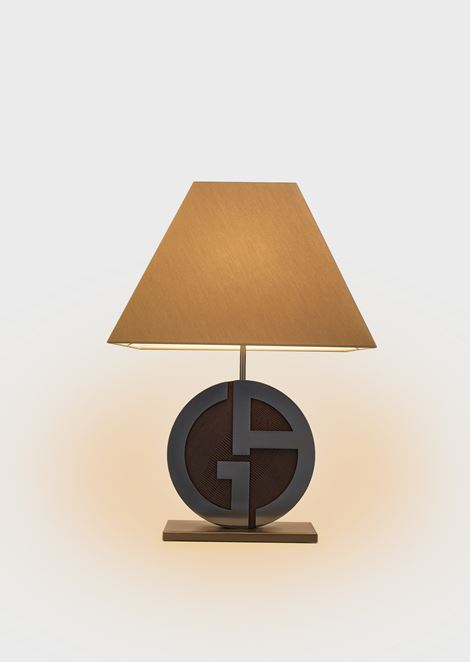 Cherie truncated pyramid-shaped lamp with GA logo