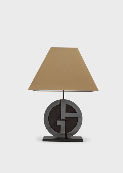 Cherie truncated pyramid shaped lamp with GA logo