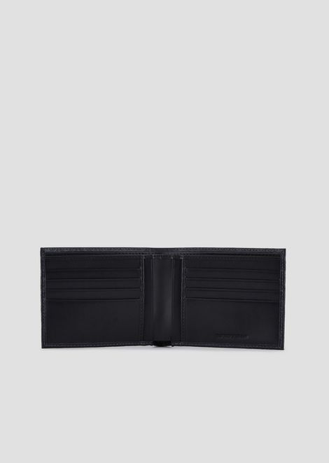 Wallet in all-over printed leather