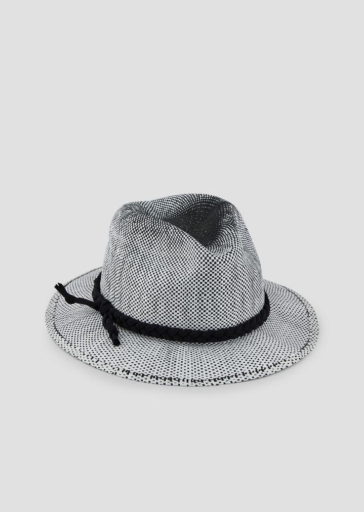 Cappello fedora in carta tessile con dettaglio in corda  960ad0f47564