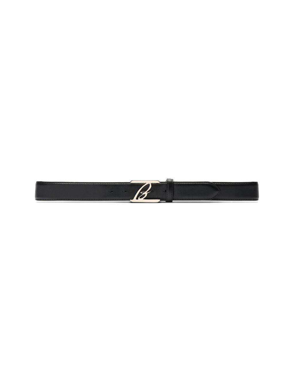 BRIONI Black Logoed Belt Belt Man f