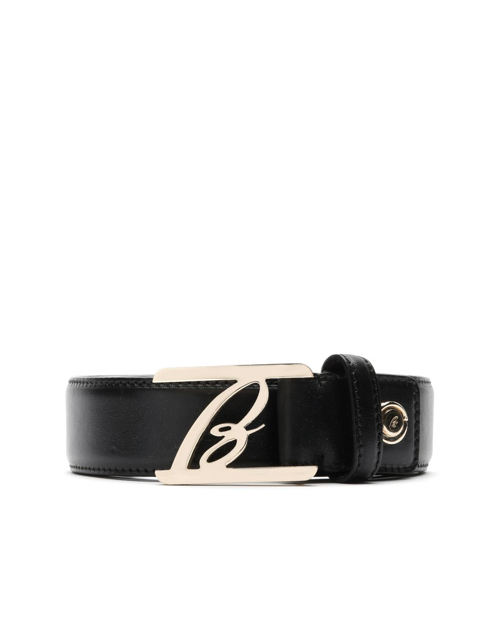 BRIONI Black Logoed Belt Belt Man r