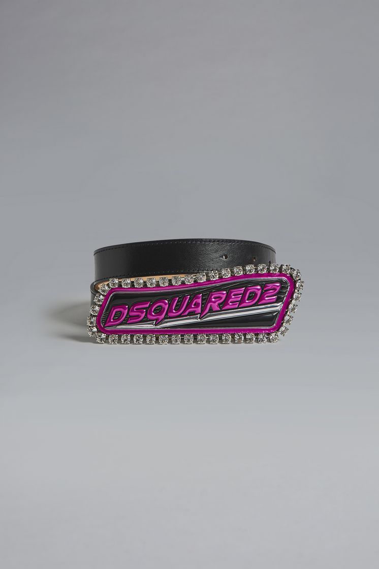 DSQUARED2 Bionic Sport Techno Logo Plaque Belt Belt Woman