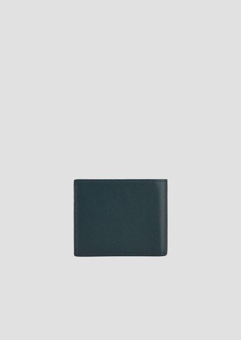 Bifold wallet in boarded print leather