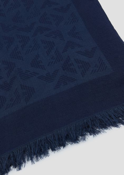 Stole in all-over logo fabric