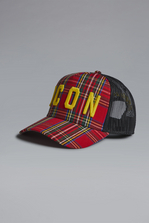 DSQUARED2 Icon Check Baseball Cap Hat Man