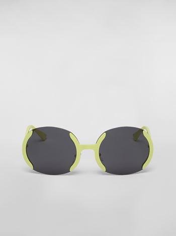 Marni MARNI ECLIPSE sunglasses in metal Woman f