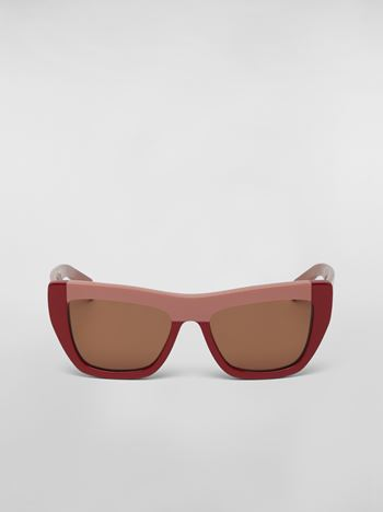 Marni MARNI COLOR BLOCK sunglasses in acetate Woman f