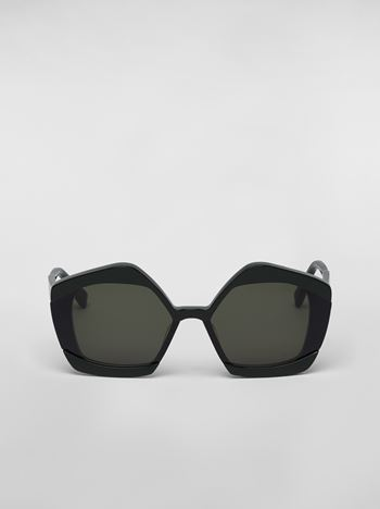 Marni MARNI EDGE sunglasses in acetate green Woman f