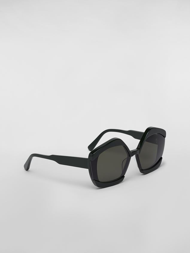 Marni MARNI EDGE sunglasses in acetate green Woman - 3