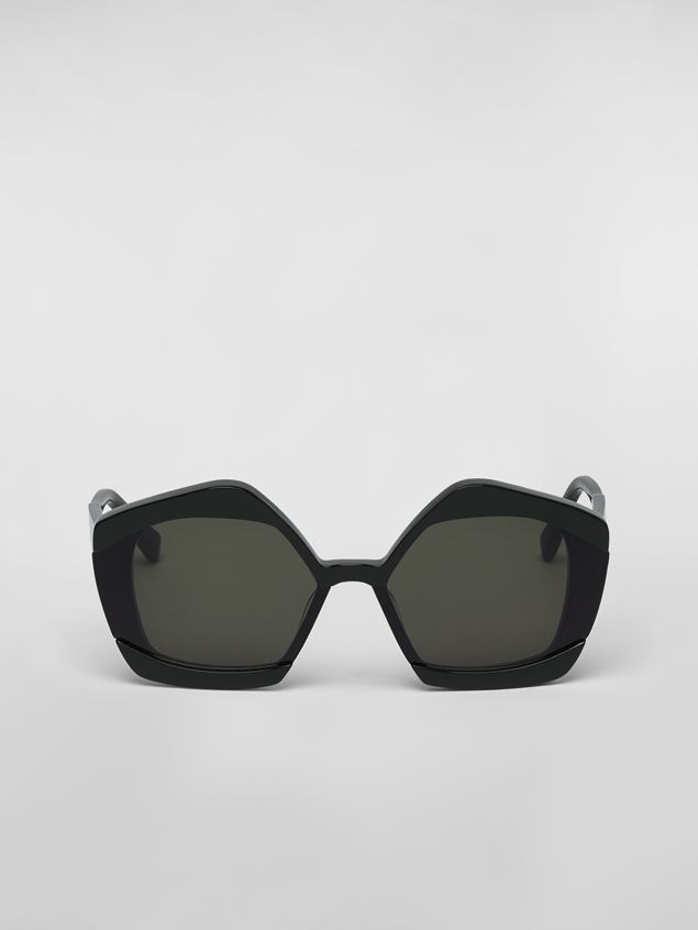 Marni MARNI EDGE sunglasses in acetate green Woman - 1