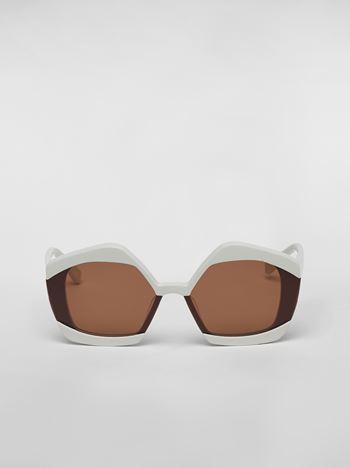 Marni MARNI EDGE sunglasses in acetate white Woman f