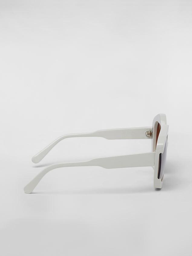 Marni Sonnenbrille MARNI EDGE aus Azetat in Weiß Damen - 4