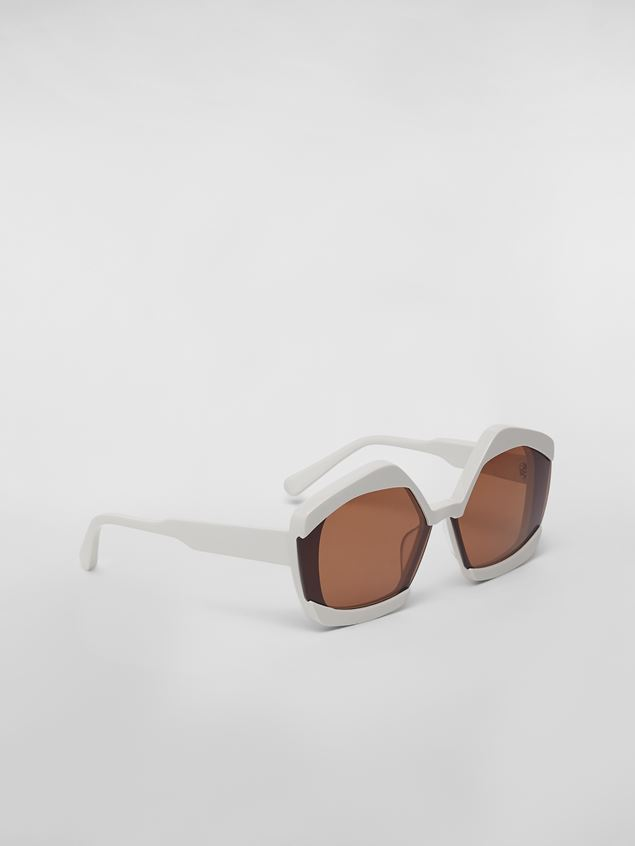 Marni Sonnenbrille MARNI EDGE aus Azetat in Weiß Damen - 3