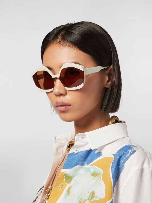 Marni Sonnenbrille MARNI EDGE aus Azetat in Weiß Damen - 2