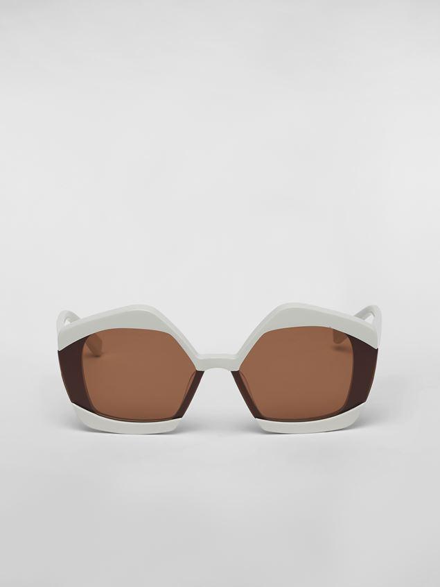 Marni Sonnenbrille MARNI EDGE aus Azetat in Weiß Damen - 1