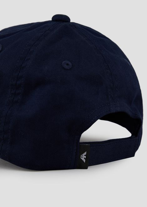Baseball cap with embroidered maxi logo