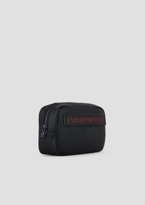 Beauty-case con maxi logo