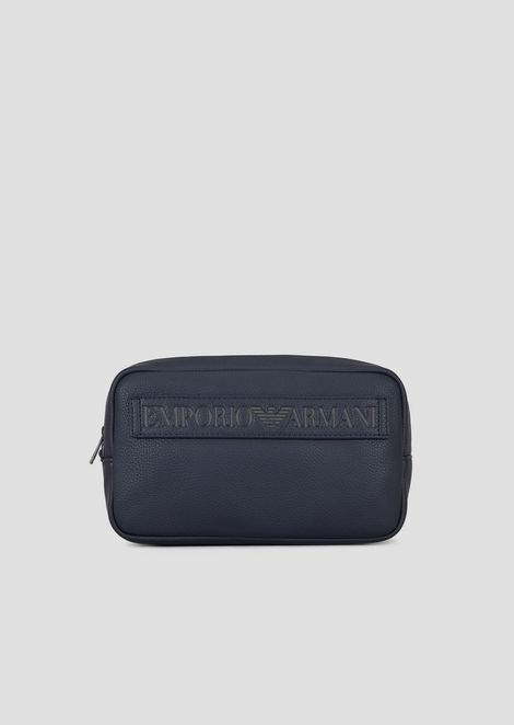 Toiletry case with maxi logo