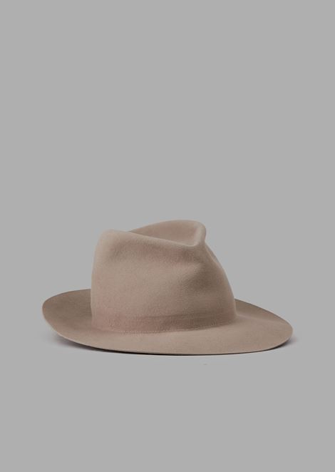 Fedora hat in rabbit fur felt