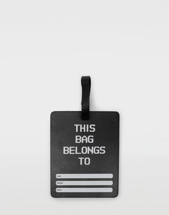 MAISON MARGIELA Printed leather tag charm Ornamental Object [*** pickupInStoreShipping_info ***] r