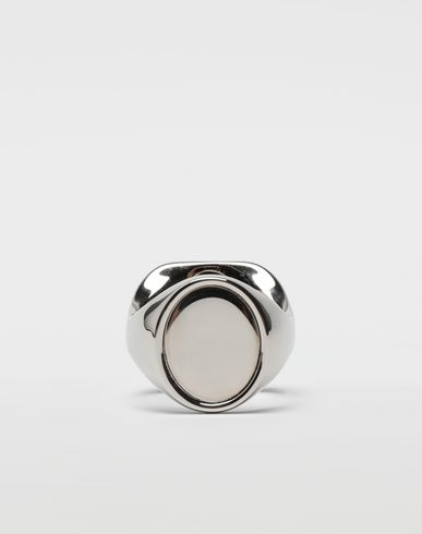 MAISON MARGIELA Ring [*** pickupInStoreShippingNotGuaranteed_info ***] Chevalier palladium ring f