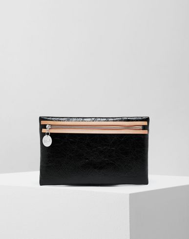 MM6 MAISON MARGIELA Wallet [*** pickupInStoreShipping_info ***] Crinkled leather zip pochette f