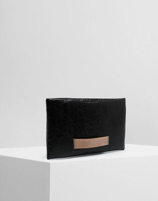 MM6 MAISON MARGIELA Crinkled leather zip pochette Wallet [*** pickupInStoreShipping_info ***] r