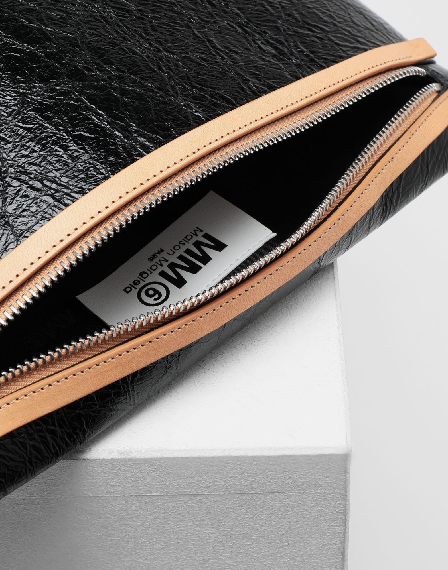 MM6 MAISON MARGIELA Crinkled leather zip pochette Wallets Woman e