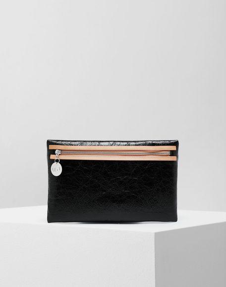 MM6 MAISON MARGIELA Crinkled leather zip pochette Wallets Woman f