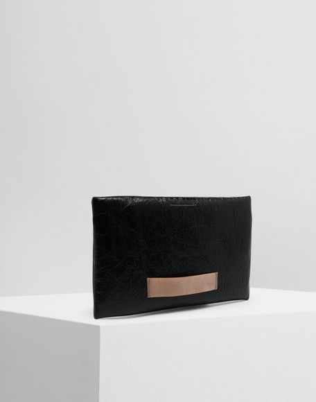 MM6 MAISON MARGIELA Crinkled leather zip pochette Wallets Woman r