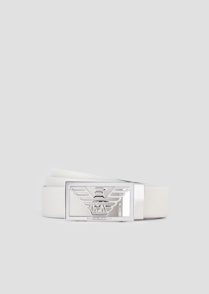 87248c81652 Reversible leather belt with logo buckle