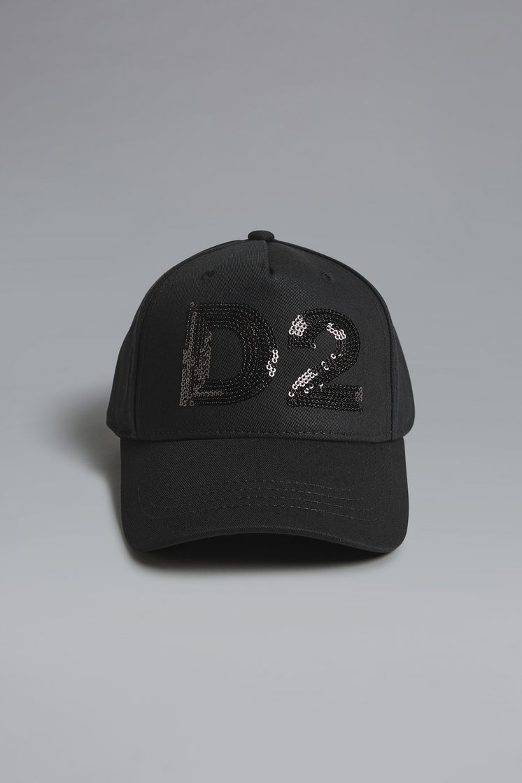 DSQUARED2 Sequined D2 Baseball Cap Hat Woman