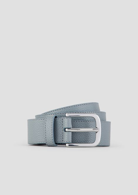 Deer-print belt with logo tag