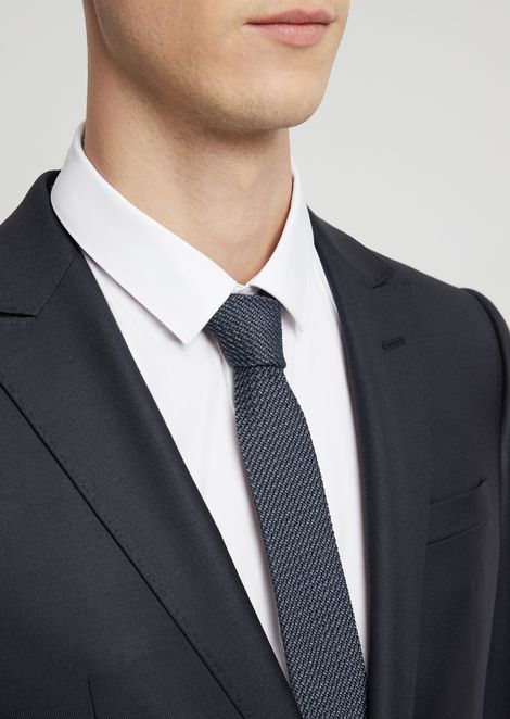 Corbata de algodón y seda con motivo jacquard