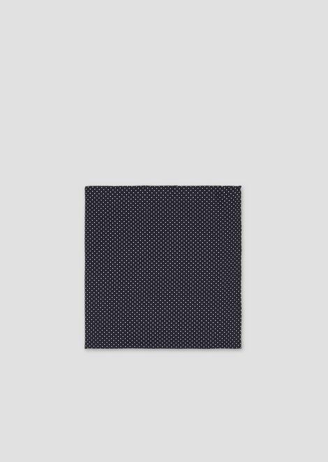 Нагрудный платок из чистого шелка сгеометрическим узором