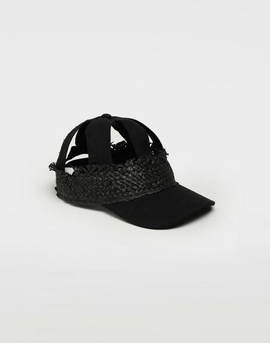 MAISON MARGIELA Décortiqué ラフィア キャップ 帽子 [*** pickupInStoreShippingNotGuaranteed_info ***] f