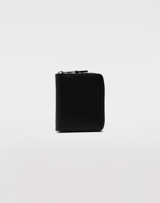 MAISON MARGIELA Zip grainy leather wallet Wallet [*** pickupInStoreShippingNotGuaranteed_info ***] f