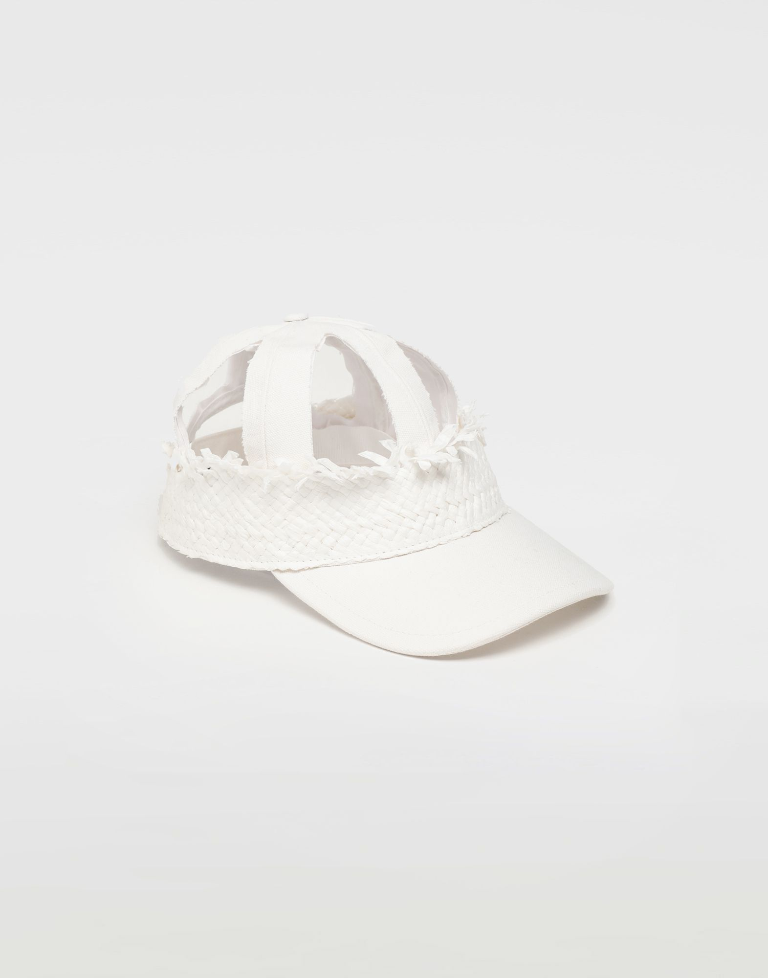 MAISON MARGIELA Décortiqué raphia cap Hats and Caps Man f
