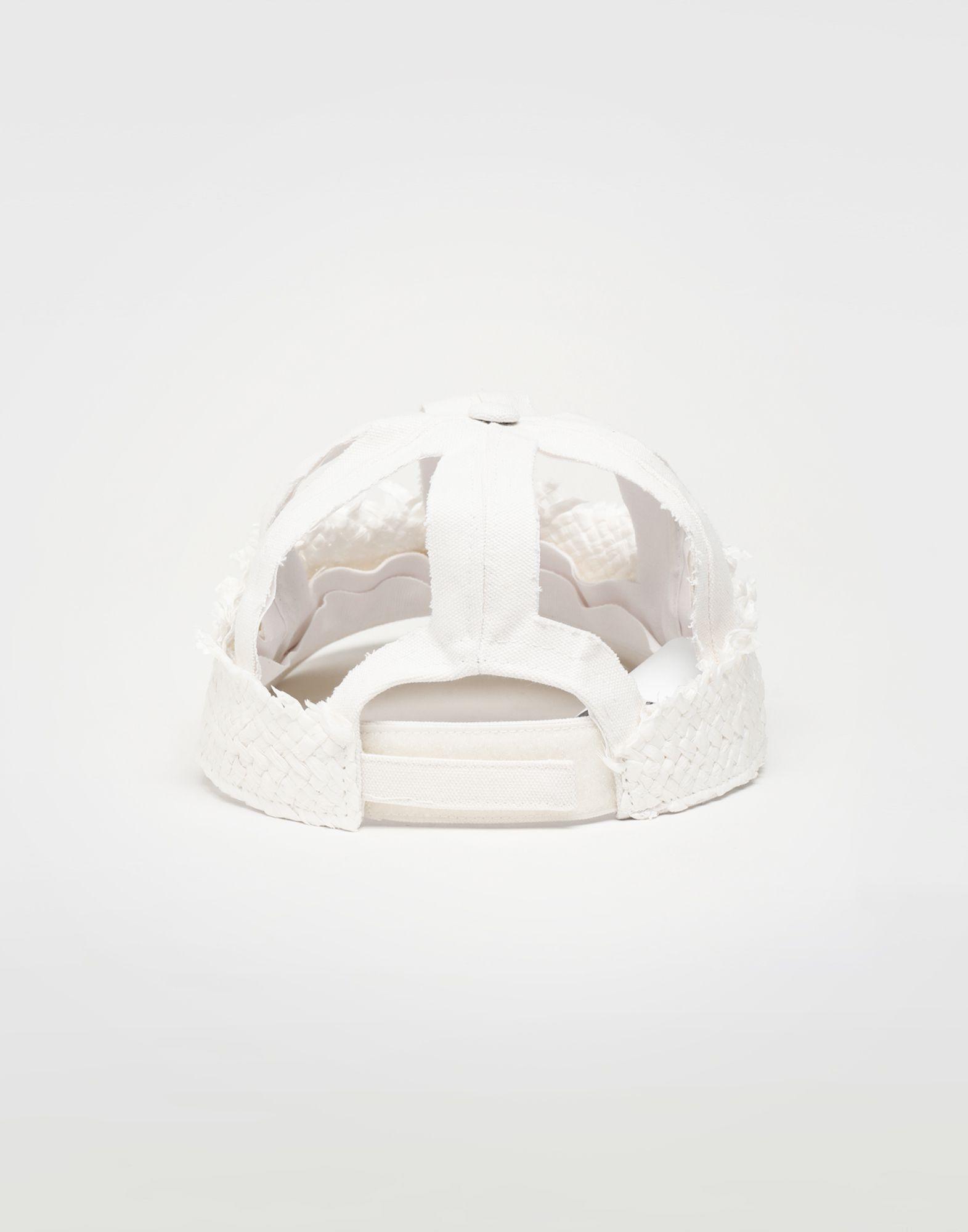 MAISON MARGIELA Décortiqué raphia cap Hats and Caps Man r