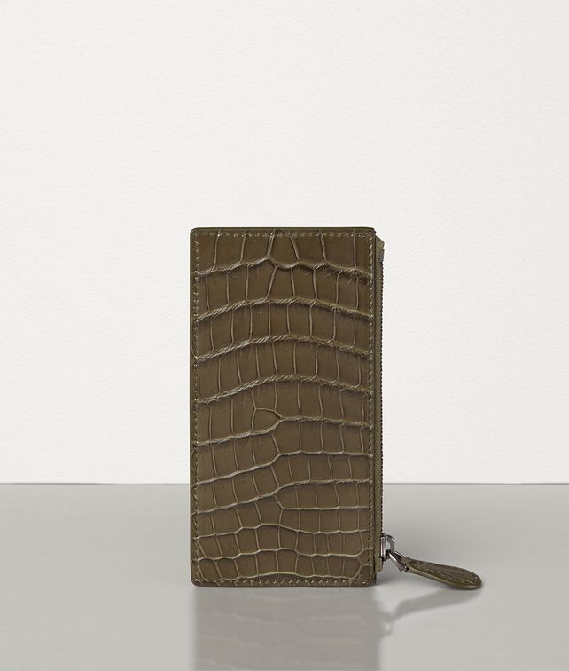 BOTTEGA VENETA CARD CASE IN SOFT CROCODILE Card Case [*** pickupInStoreShippingNotGuaranteed_info ***] fp