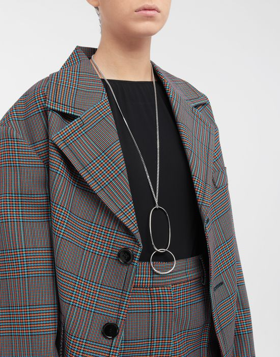 MM6 MAISON MARGIELA Double-hoop necklace-ring Necklace [*** pickupInStoreShipping_info ***] b