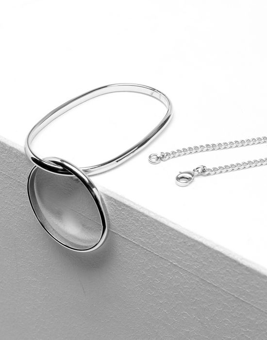 MM6 MAISON MARGIELA Double-hoop necklace-ring Necklace [*** pickupInStoreShipping_info ***] d