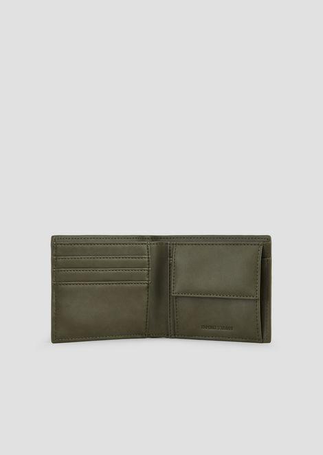 Bi-fold wallet with maxi logo