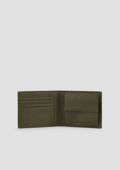 Bifold wallet with maxi logo