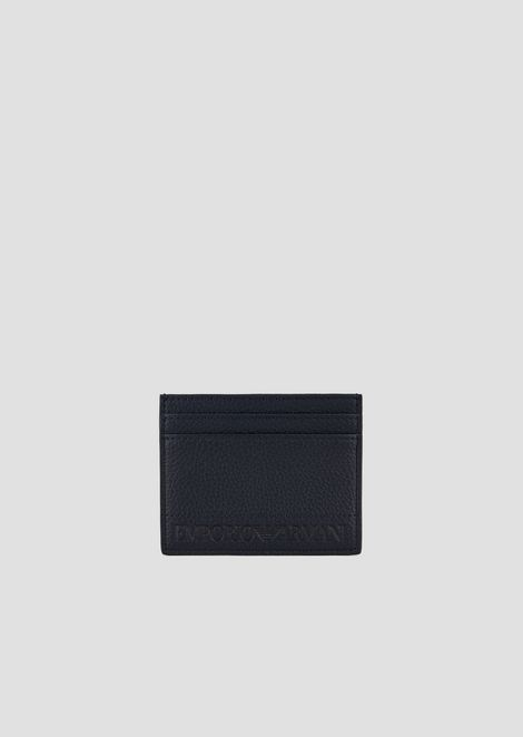 Card holder with contrasting Emporio Armani logo