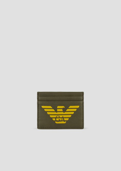 Smooth card holder with embossed logo
